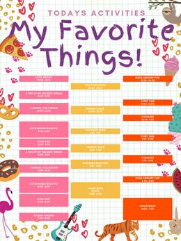 My Favorite Things Weekend Programming- Post4er