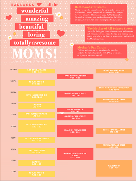 Mother's Day Programming- Poster