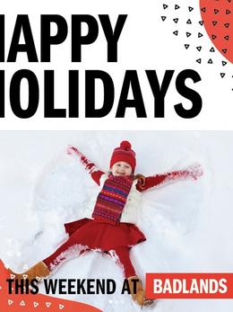 Happy Holidays at Badlands- Social Media