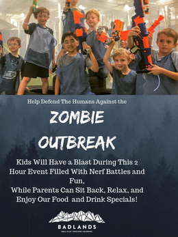 Zombie Nerf Night- Social Media