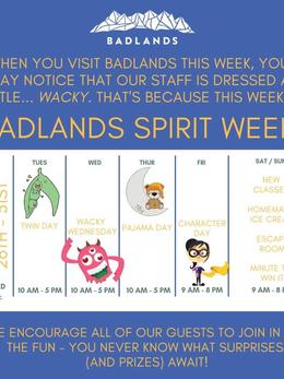 Badlands Spirit Week- Social Media