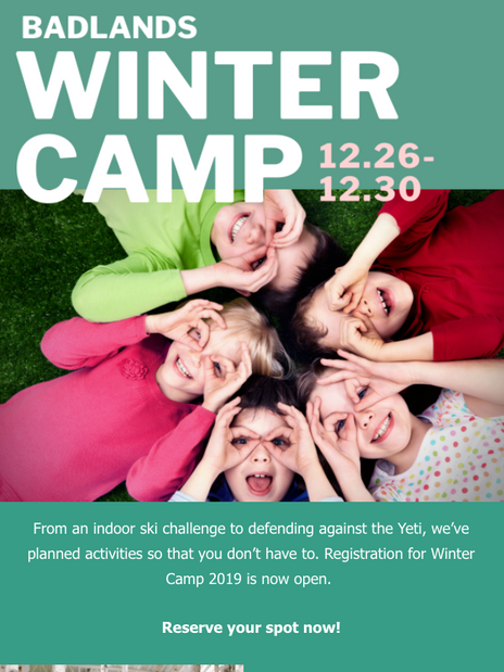Winter Camp- Email
