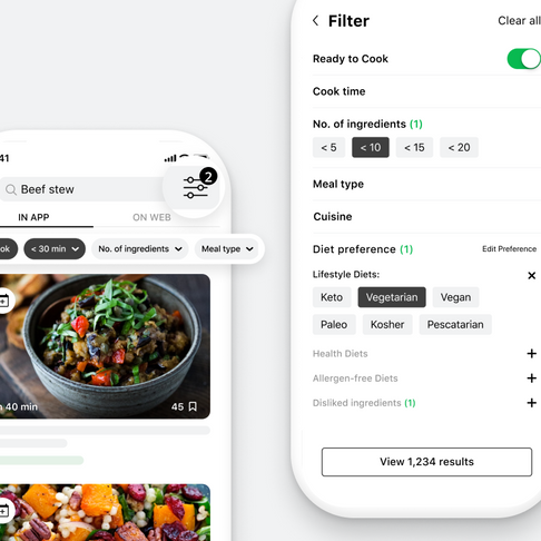 Say Hello to the All-New Recipe Search Filters! 🎉 🎉