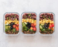 Three food trays background