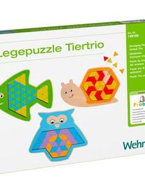 139166 - Puzzle Trio des animaux