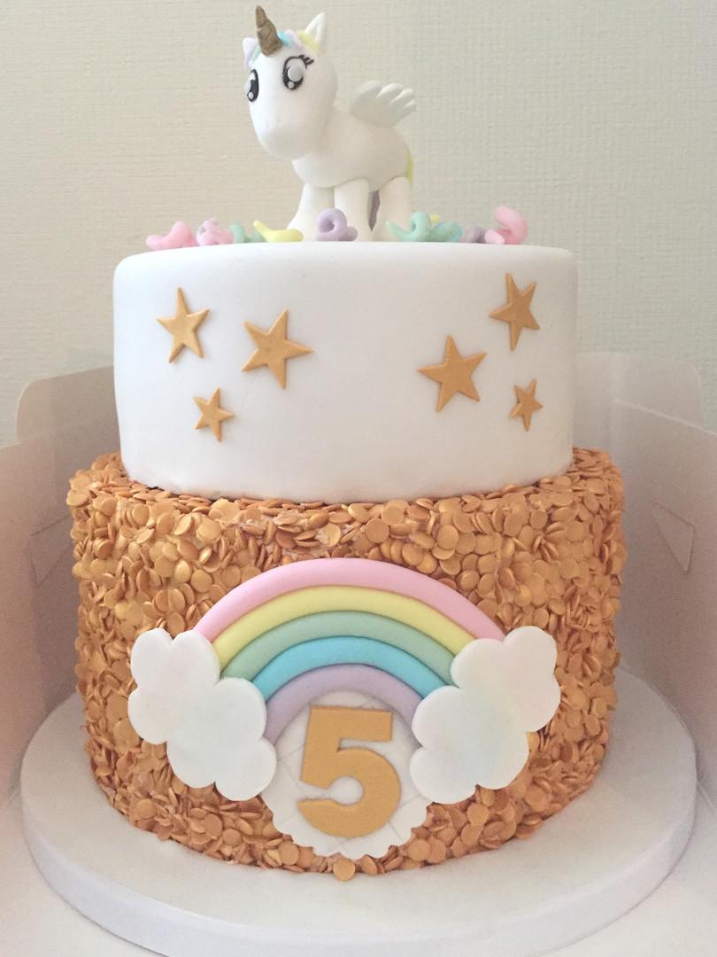 Gold Unicorn Cake