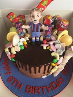 Football Chocolate Sweet Drip Cake