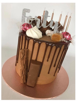 Rose Gold Chocolate Drip Cake