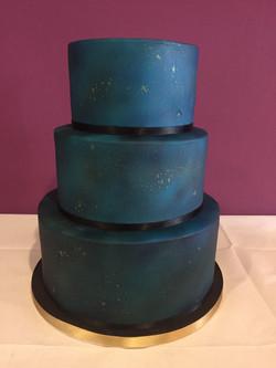 3 Tier Galaxy Cake