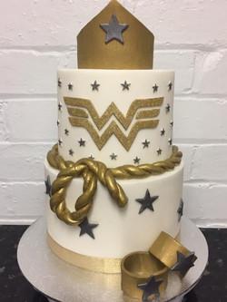 2 Tier Wonder Woman Cake
