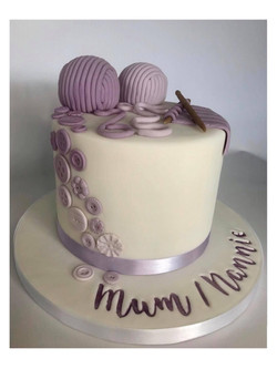 Purple Knitting Cake