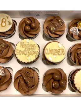 Gold Chocolate Cupcakes