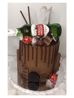 Chocolate Beer Drip Cake