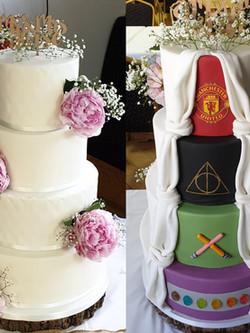 4 Tier Hidden Wedding Cake