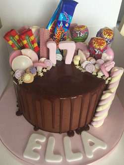 Pink Chocolate Sweet Drip Cake