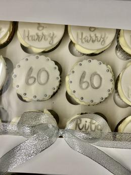 60th Anniversary Cupcakes