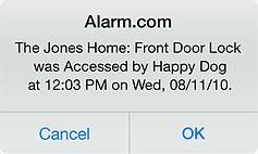 Alarm.com notification