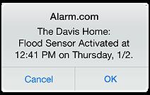 Alarm.com app notification