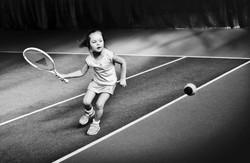 vaikai sportas lauko tenisas treniruote