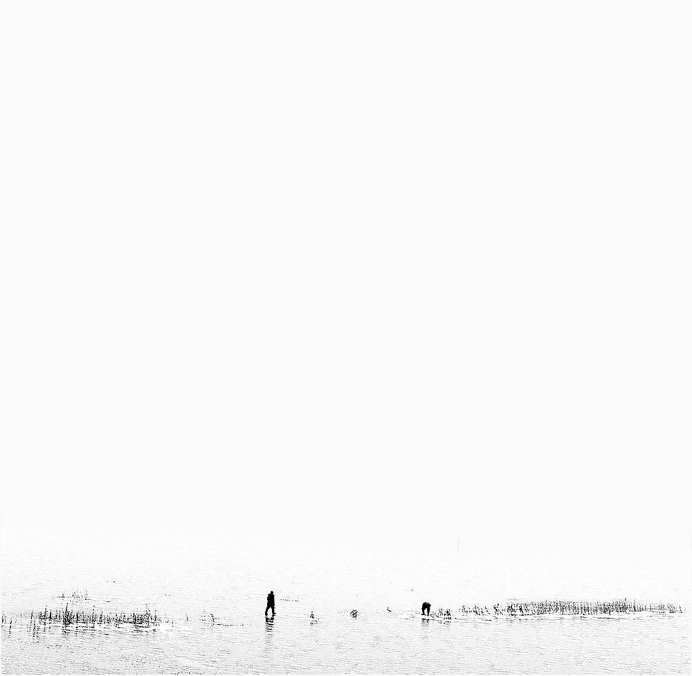 ziema balta gamta ezeras