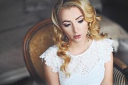 romantic wedding pure white portrait