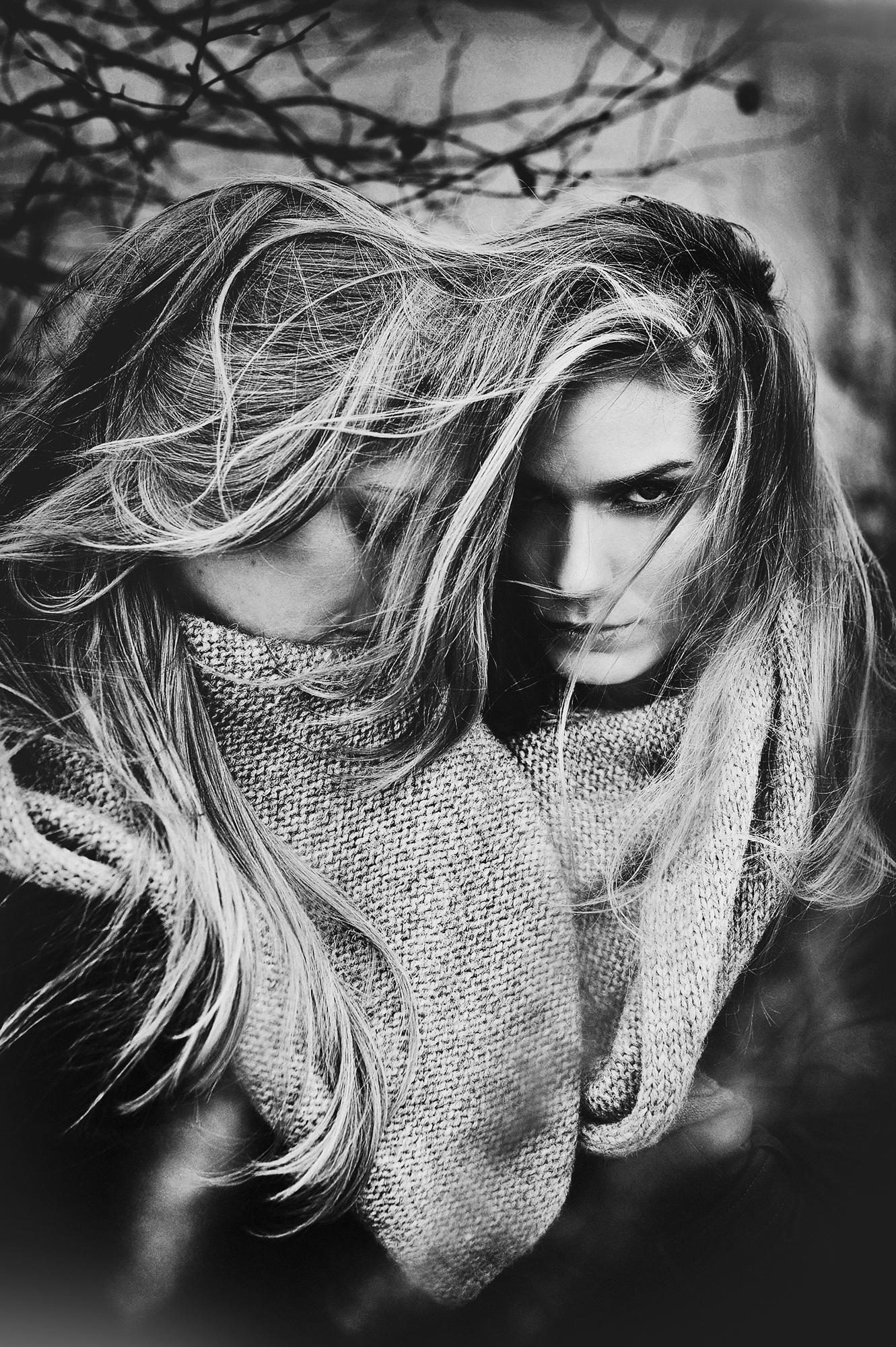 face photography dark fashion