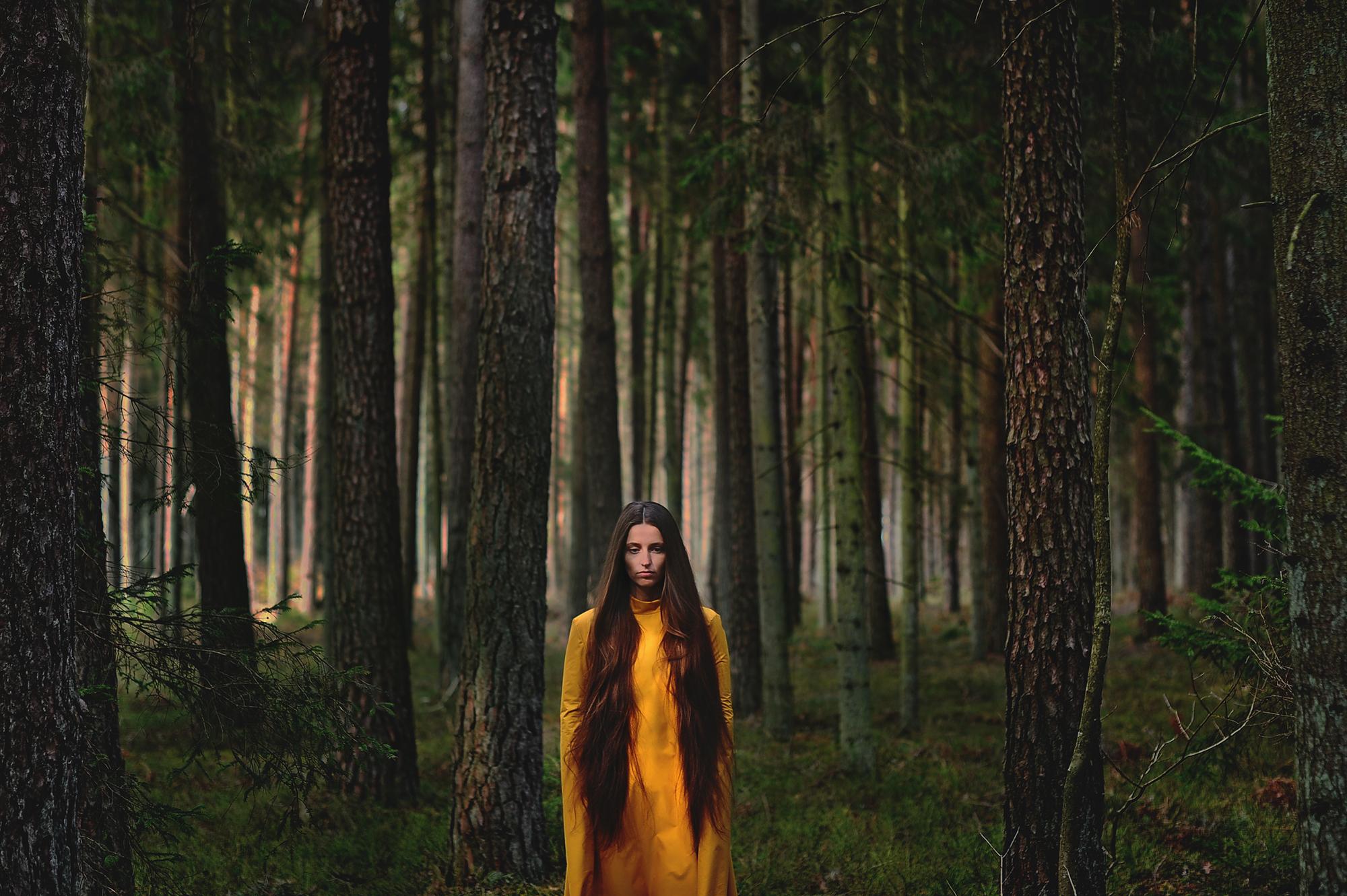 portrait woods model fashion