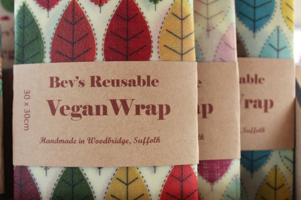 Large 30cm vegan wraps in three differen