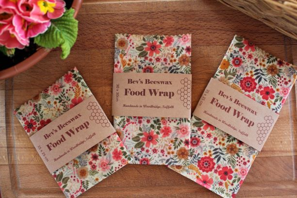 Bevs Beeswax wraps available in medium,