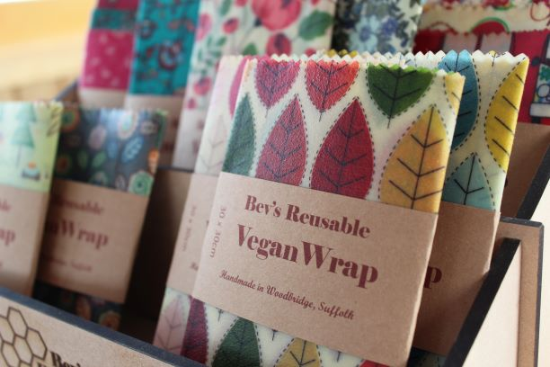 Vegan Wraps in Bevs Eco Products display