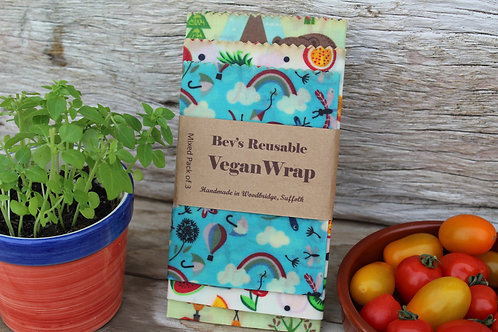 Mixed Pack of 3 Vegan Wraps
