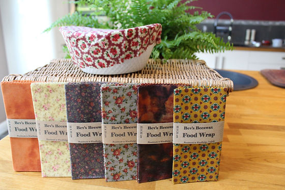 Bevs Eco Products beeswax wraps and cove