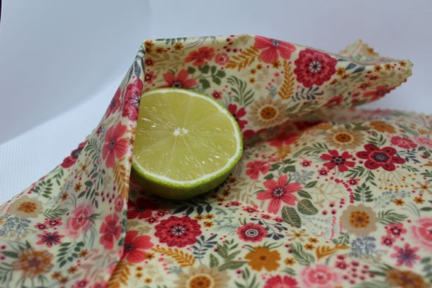 Medium sized vegan or beeswax wrap cover