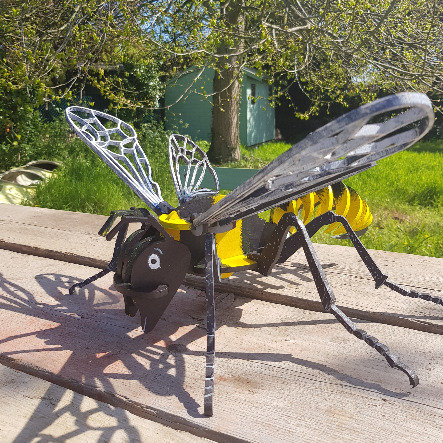 Giant 3D Wooden Bee