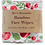 Bevs Eco Products resuable bamboo face wipes in poppy print cotton fabric
