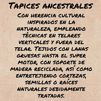 1 TAPICES ANCESTRALES CON TINTES NATURAL