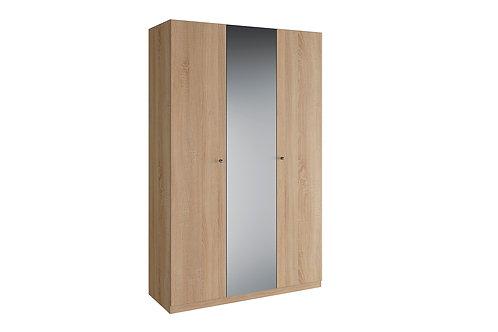 Шкаф 3 двери зеркало (Нью) КВАДРО