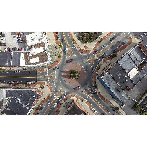 Glens Falls Traffic Circle | 16x20 Print