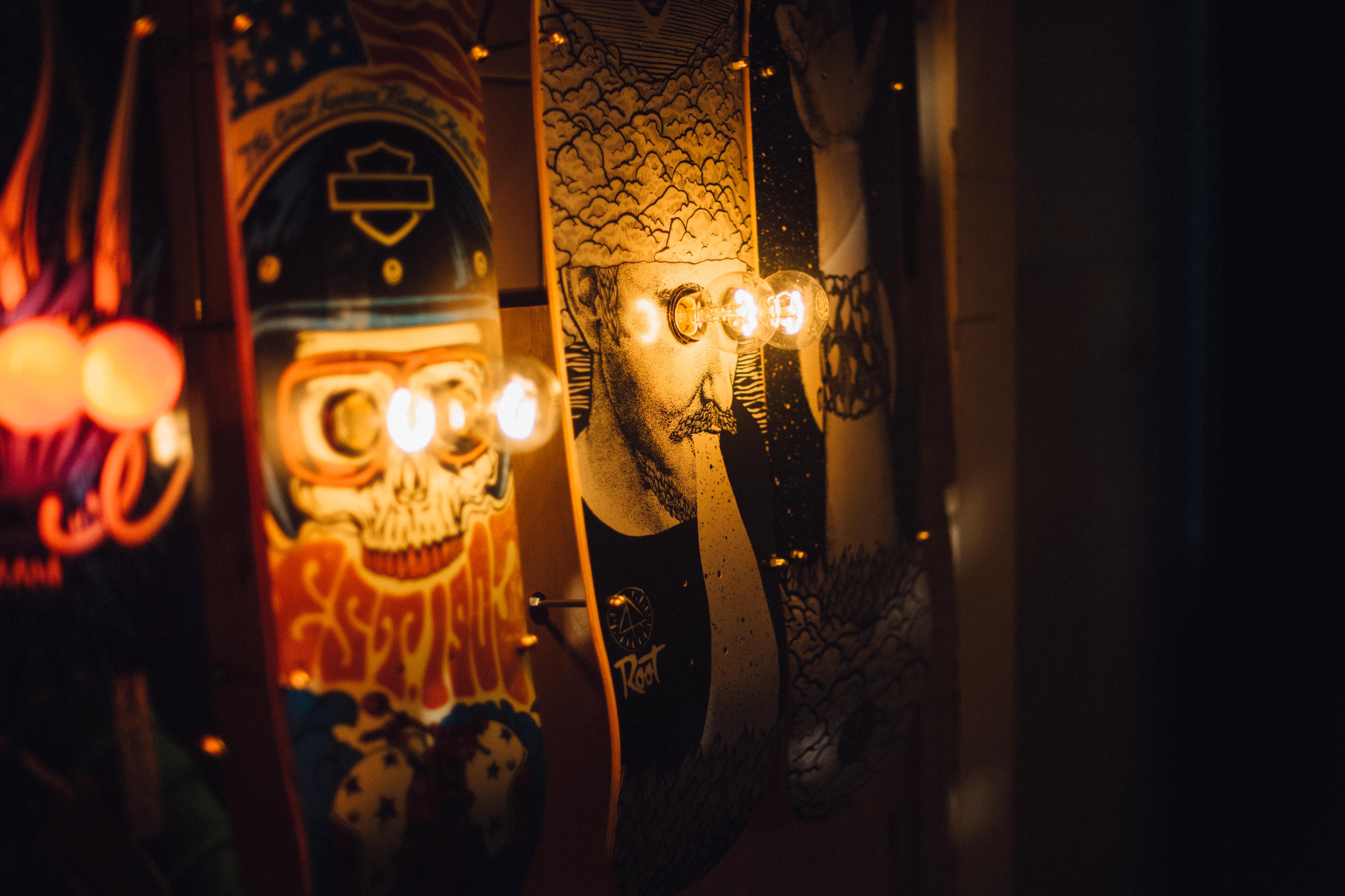 eddison skateboardlampe
