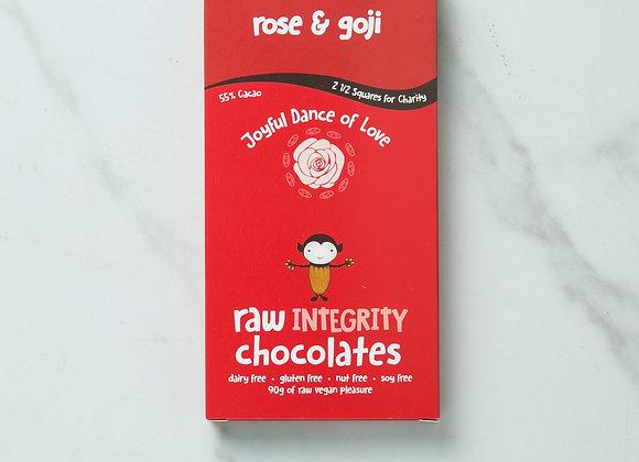 Rose & Goji Chocolate Bar 90g