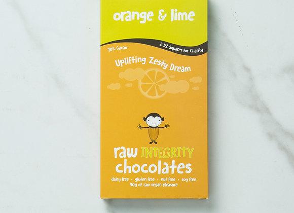 Orange & Lime Chocolate Bar 90g