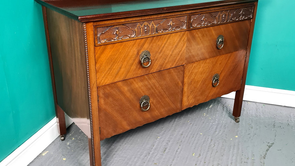 An Antique Style Solid Mahogany Chest of Drawers ~Delivery Available~