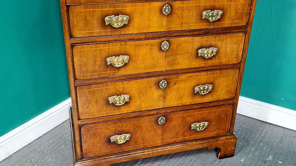 An Antique Georgian Style Walnut T.V Cabinet Multi Media Unit ~Delivery Availabl