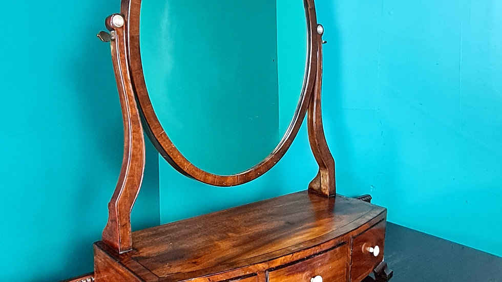 An Antique 19th Century Swing Table Top Mirror ~Delivery Available~