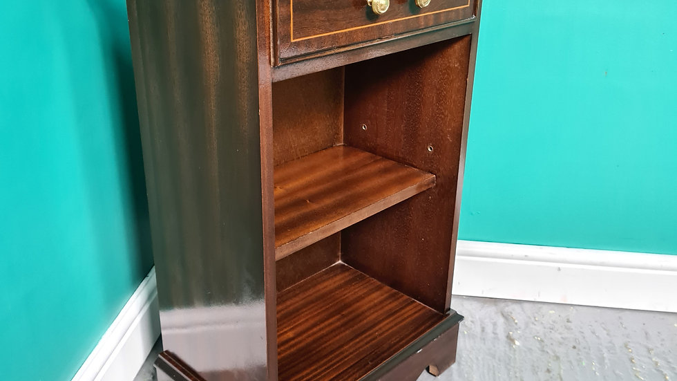 An Antique Style Small Flame Mahogany Bookcase Side Table ~Delivery Available~