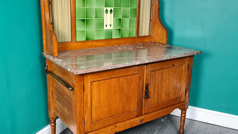 An Antique Arts and Crafts Satinwood Washstand Cabinet ~Delivery Available~