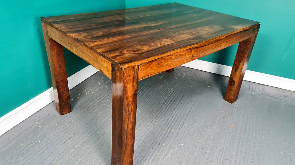 An Antique Style Indian Rosewood Dining Table ~Delivery Available~