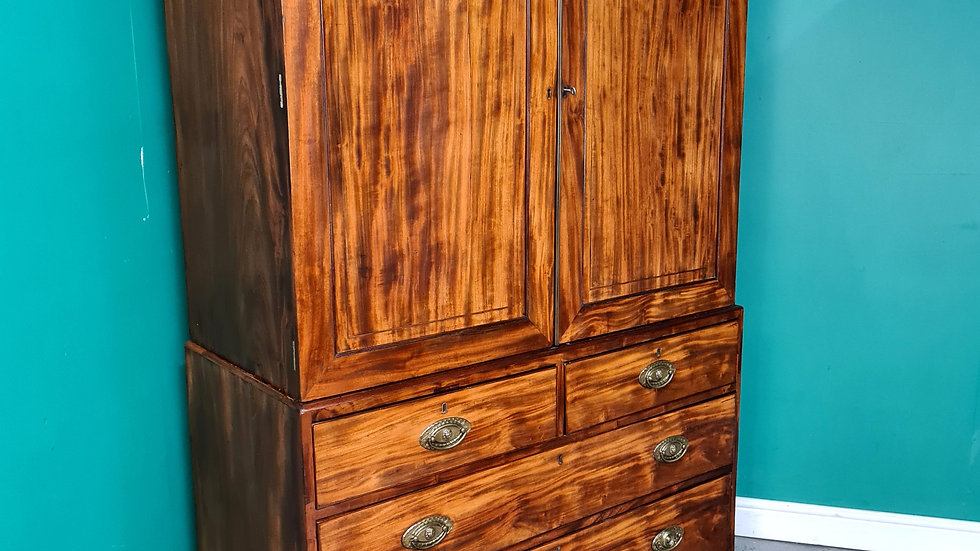 An Antique Victorian 19th Century Linen Press Wardrobe ~Delivery Available~
