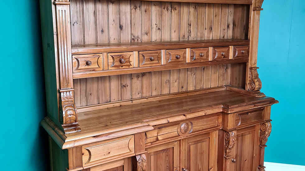 An Antique Style High Quality Solid Pine Dresser Sideboard ~Delivery Available~