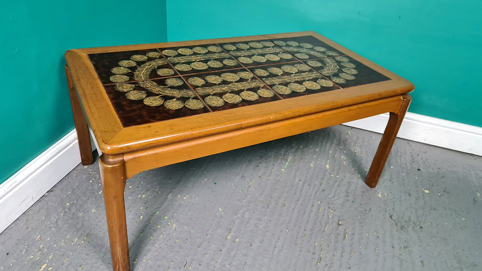 A Vintage Nathan Teak Danish Style Tile Topped Coffee Table ~Delivery Available~